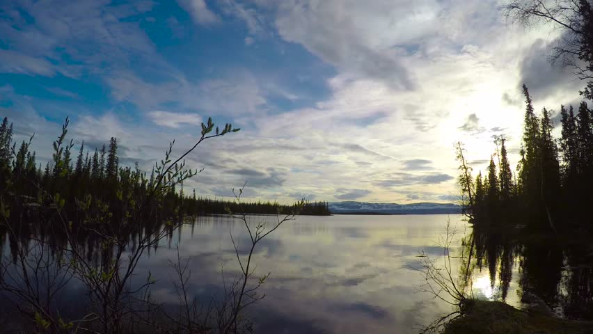 On the shore of lake Lovozero. Kola Peninsula. Russia. Timelapse. #30065314