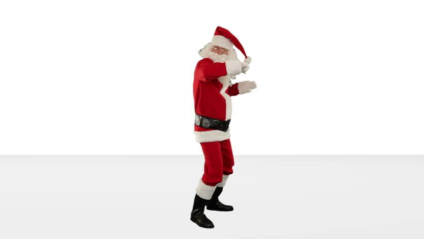 Santa Claus Dancing against White, Dance 3