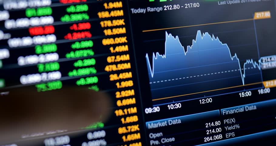 Stock market data  | Shutterstock HD Video #30206854