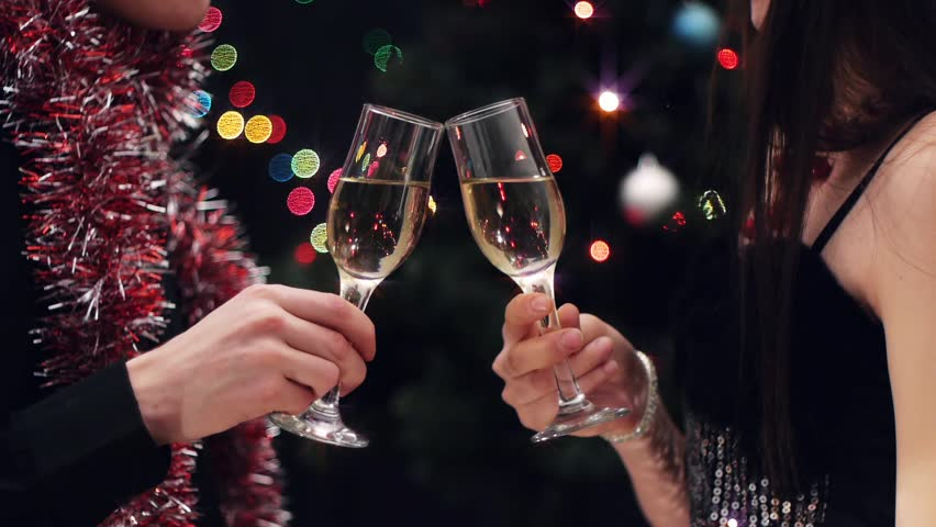 couple toast with wine glasses at Stock Video (HD) Royalty-Free ...