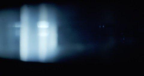 Light Leaks Moving Across Vintage Film Lens
