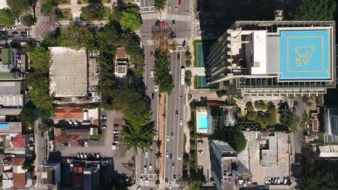 Top View of Faria Lima avenue in Sao Paulo, Brazil