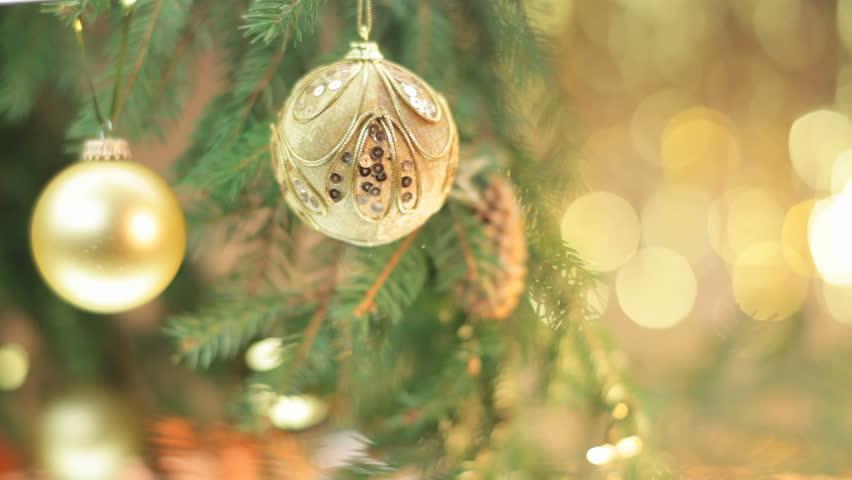 Christmas Balls on Christmas Tree #3025588