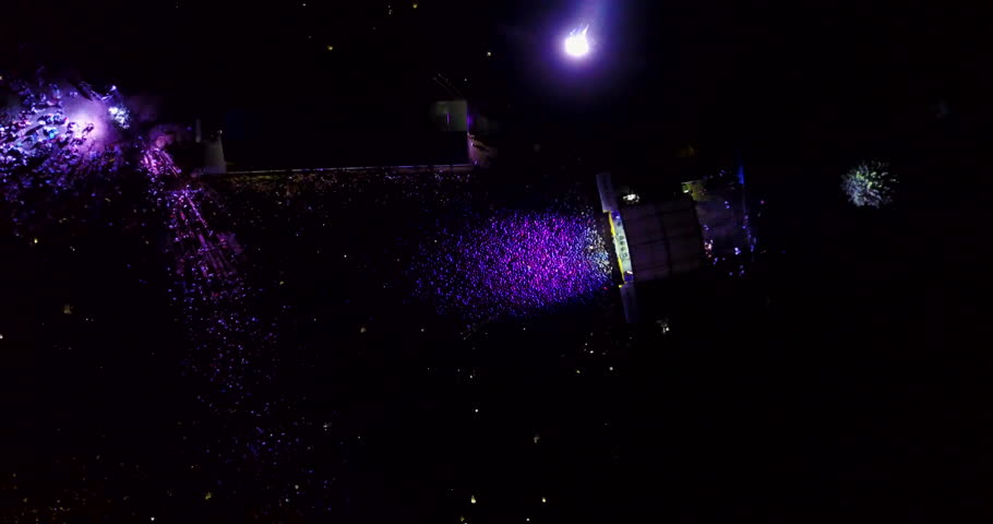 A crowd of people at a concert. drone point of view | Shutterstock HD Video #30267094