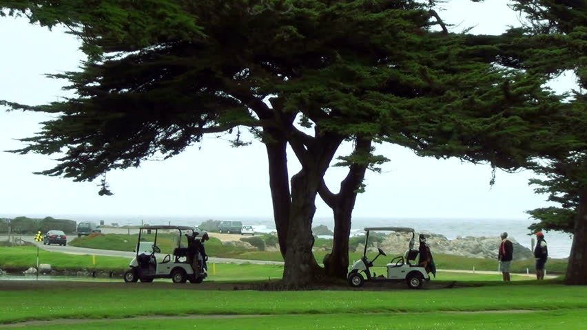 MONTEREY, CA - OCTOBER 5: World-famous Pebble Beach golf course, October 5, 2012 in Monterey, CA. Pebble Beach golf course is the most famous course in the Western United States,