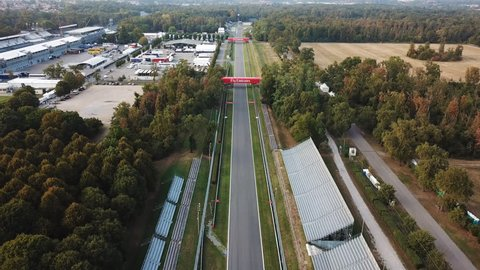 28.08.2017 Monza (MB) -  aerial view of the straight of international racing Monza's track