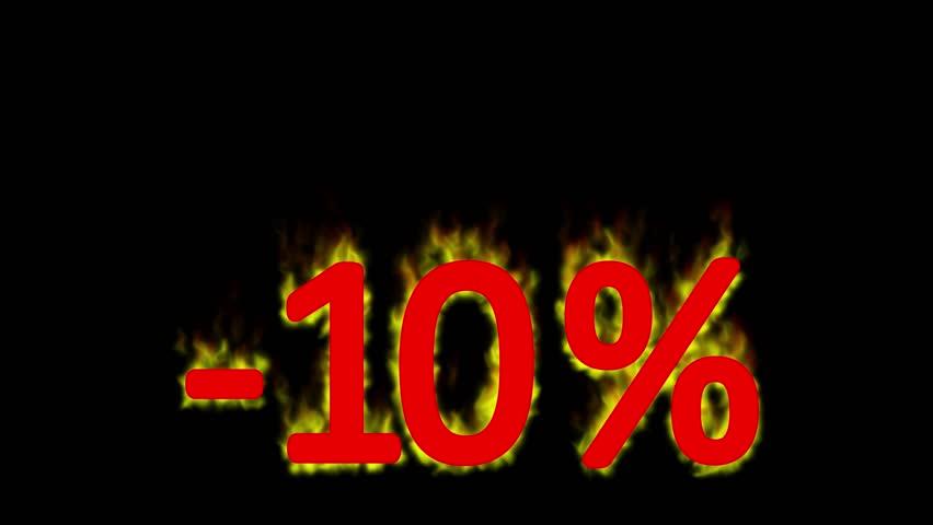 Hot 10 percent discount in fire