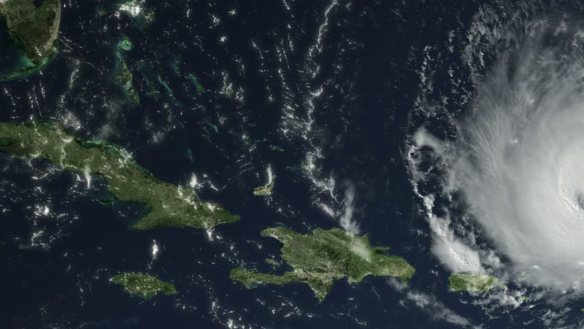 Hurricane Irma Cat. 5, 160 mph, Caribbean and south United States path, Sept. 6, 2017. Some of the video elements are public domain NASA imagery: it is requested by NASA that you credit when possible.