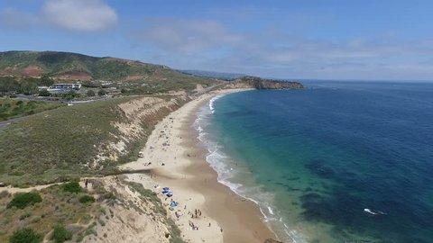 Aerial of Crystal Cove Newport Beach Orange County California.mov