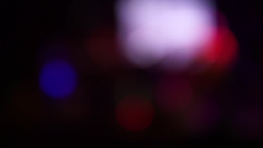 Fancy Club Light Effects In A Dark Background Stock: Dark, Blurred, Bokeh Lights Background. Abstract Sparkles
