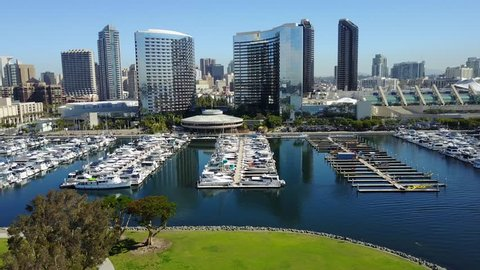 San Diego Downtown - Drone Video Aerial Video of San Diego Downtown.