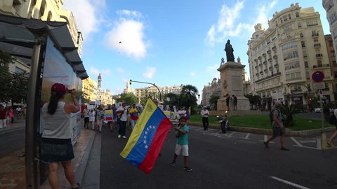 Protest for Venezuela in Valencia Spain 07 August 2017