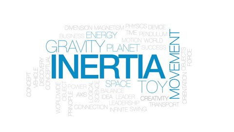 Inertia animated word cloud, text design animation. Kinetic typography.