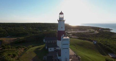 Montauk Lighthouse Aerial 08 - Ascending