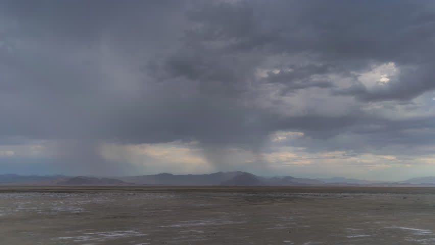Thunderstorm Mojave Desert with Distant mountains 4K from 6K source | Shutterstock HD Video #30764299