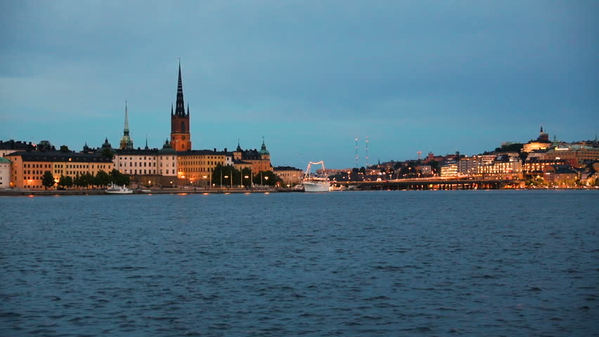 Stock video of rotation time lapse motion hyperlapse of 15730720 hd0020central stockholm cityscape at dusk sweden ccuart Images