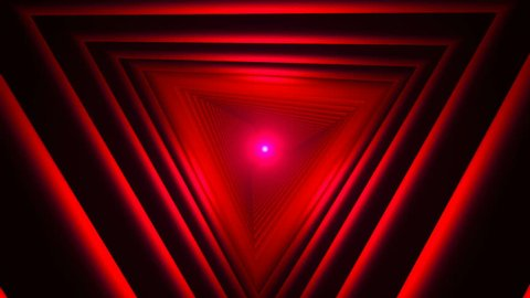 Triangle Future Space Tunnel. A Science Fiction Composition.