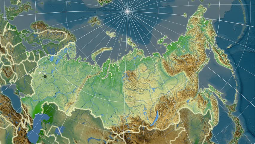 The Russia Area Map In Stock Footage Video 100 Royalty Free