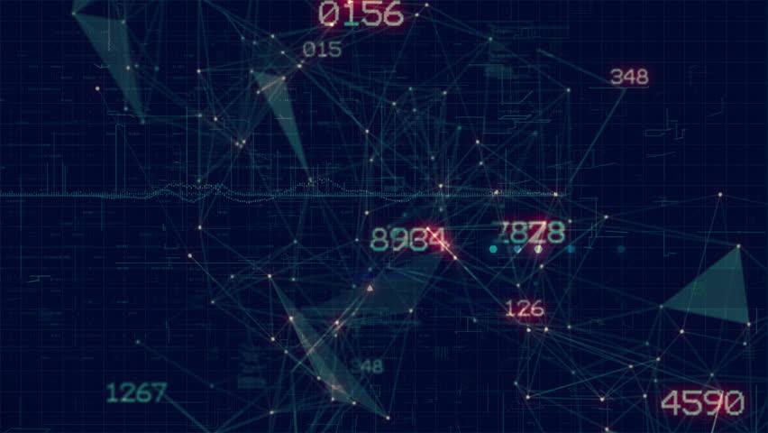 Network / math / numbers / code seamless looping motion background. High quality 3D animation rendered at 16-bit color depth. #30825694
