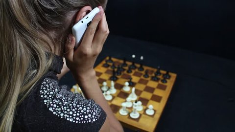 Friends Play Chess in Modern Stock Footage Video (100