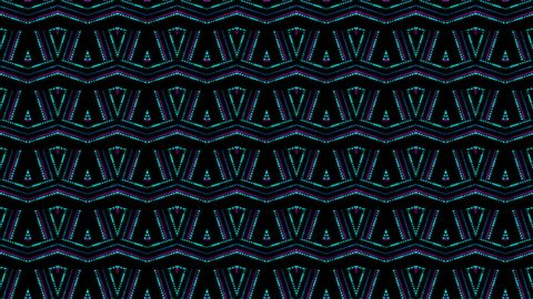 disco kaleidoscopes background with animated glowing neon colorful lines and geometric shapes for music videos, VJ, DJ, stage, LED screens, show, events.seamless loop.WAVE