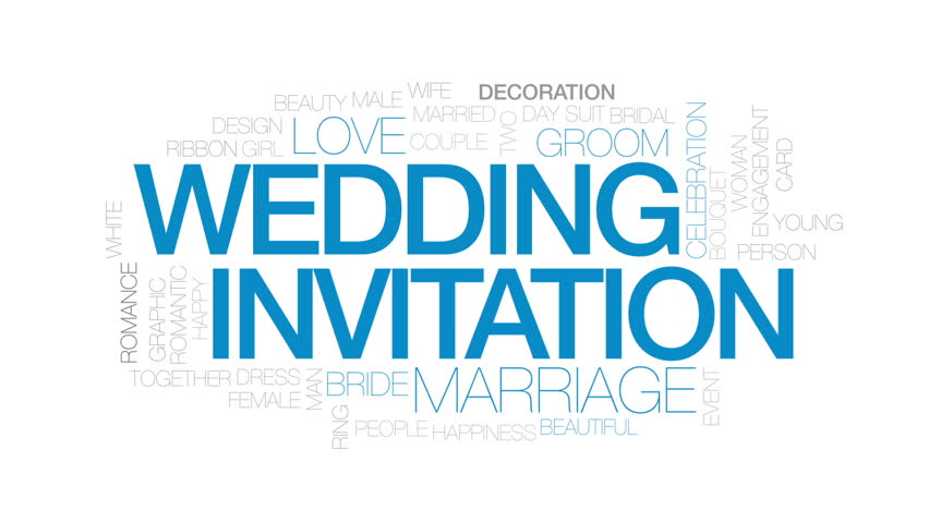Wedding Invitation Animated Word Cloud Text Design Animation