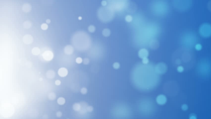 Abstract Defocused Lights On Blue Background