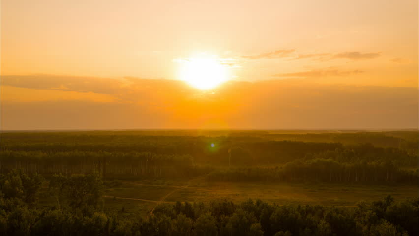 Flight at sunset. Video shooting was made with the help of a drone in summer warm weather | Shutterstock HD Video #30932434