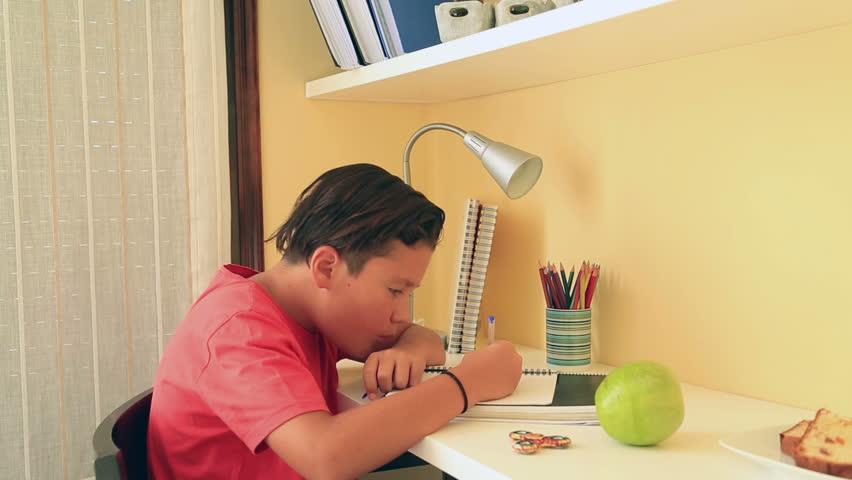 Bored school boy   Shutterstock HD Video #30990976