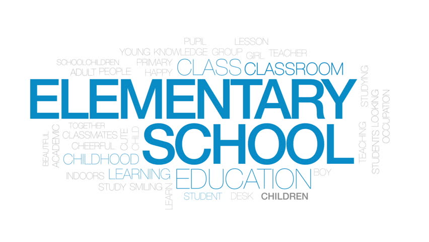 Elementary school animated word cloud, text design animation. Kinetic typography.   Shutterstock HD Video #30993286