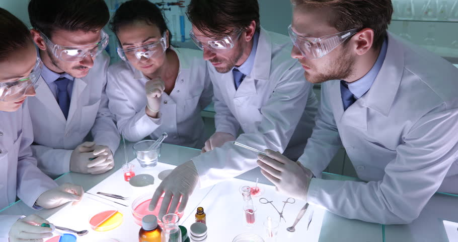 Forensics Researchers Collaboration for Carrying Out Studies Laboratory Activity   Shutterstock HD Video #30999214