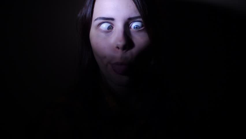 Teen girl having fun and making funny faces, 4K UHD slowmo | Shutterstock HD Video #31054174