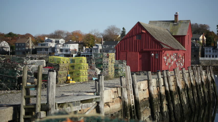A street view of Rockport, Massachusetts