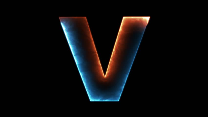 Alphabet letter y outline in two colors looping on black alphabet letter v outline in two colors looping on black background in 4k 4k thecheapjerseys Gallery