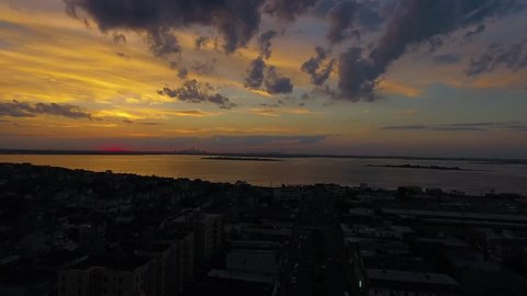 NYC Sunset 05 - Aerial