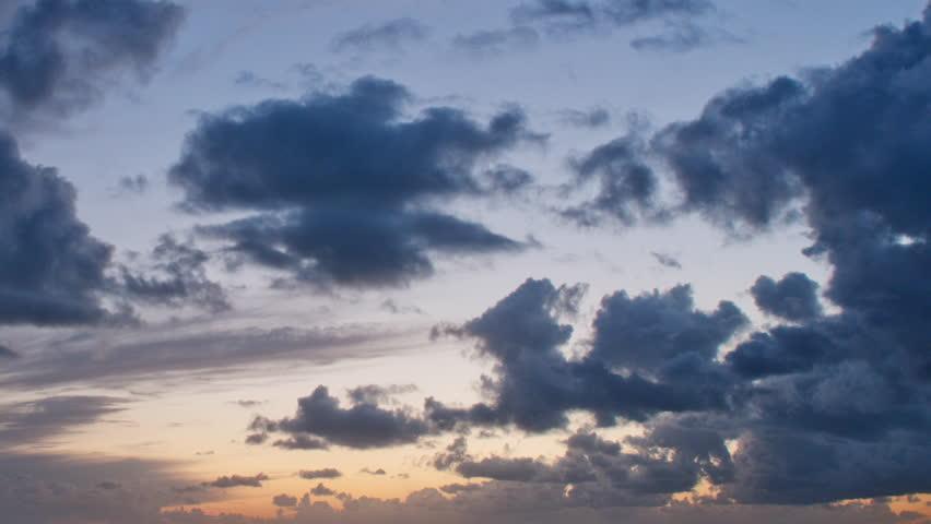 altocumulus clouds twilight