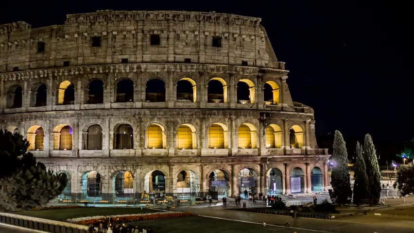 Time Lapse Of The Colosseum City