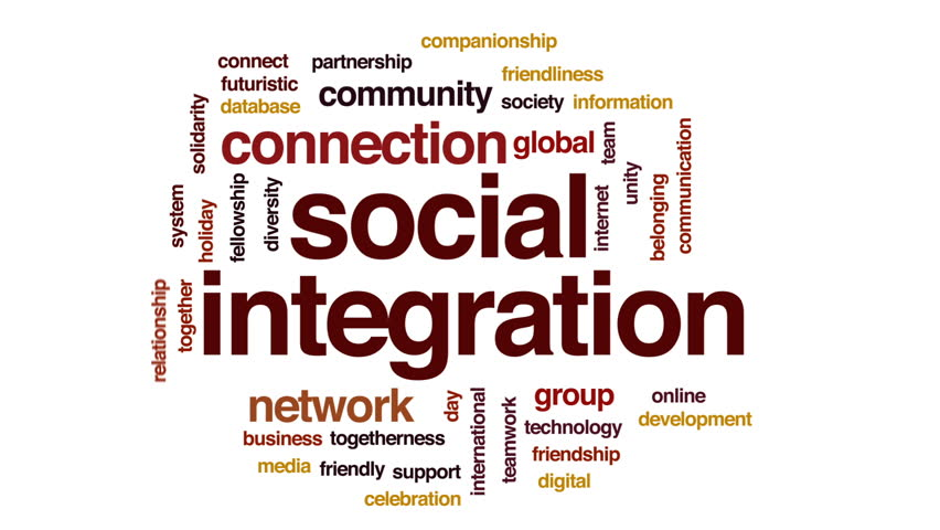social integration No, social integration is the movement of immigrants or minorities into the mainstream of society so they can get to be integrated into the mainstream of the society in which they belong.