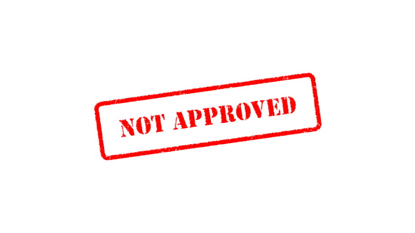 Not Approved Signed With Red Stock Footage Video 100