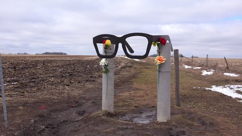 CIRCA 2010s - Clear Lake, Iowa - The Buddy Holly Memorial plane crash site in Clear Lake, Iowa.