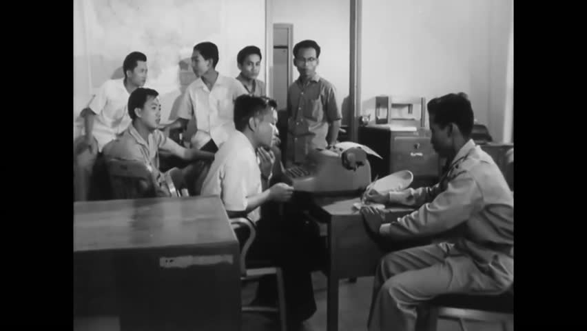 circa 1960s authorities interrogate several potential suspects about a recent robbery hd stock video