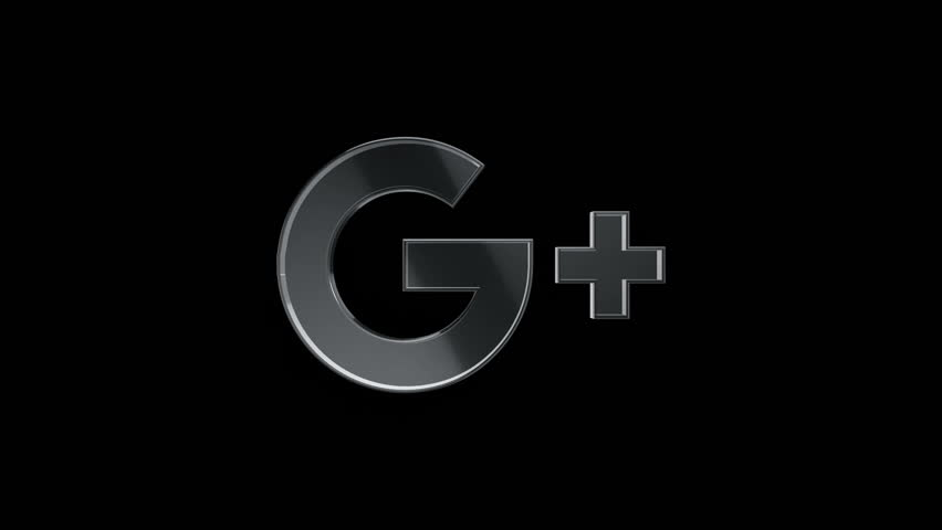 Editorial Animation: 3D rotation of symbol of Google, Google Plus logos from glass. Animation of seamless loop.
