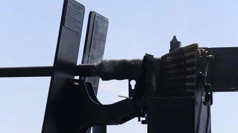 Firing .50 Caliber Machin Gun