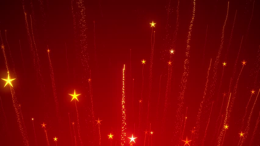 abstract red christmas motion background gold sparkles and round glitter bokeh particles and light - Christmas Motion Lights