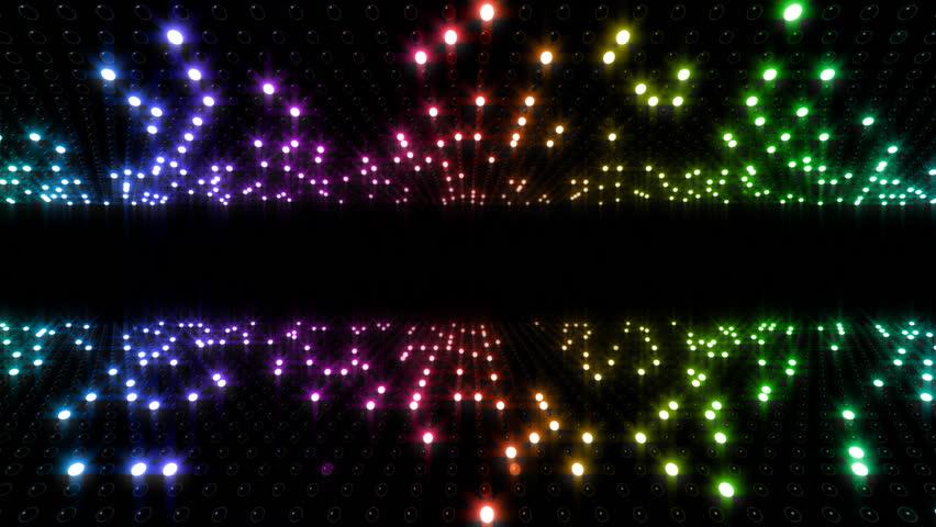 LED Light wall. | Shutterstock HD Video #3164164