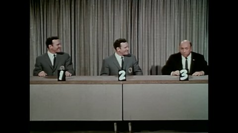 """CIRCA 1960s - The final segment of the 1960s TV show """"To Tell the Truth"""" is parodied in 1964."""