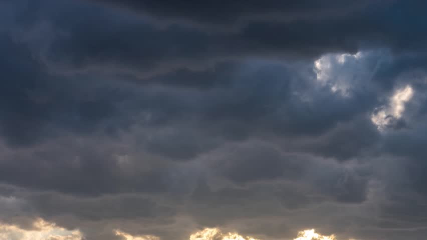 Raining cloudy time lapse motion, fast moving rain clouds after bad weather, Heavy Rain Before a Storm, Loop of thunderstorm. Typhoon Sky, tornado cloud, Full HD, 1920x1080.