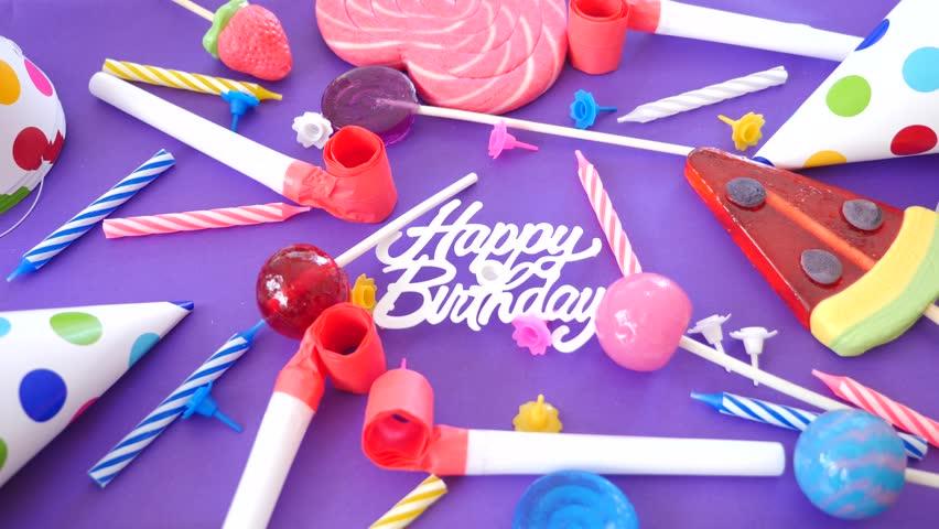 Video Card Birthday Greeting Inscription Stock Footage Video 100