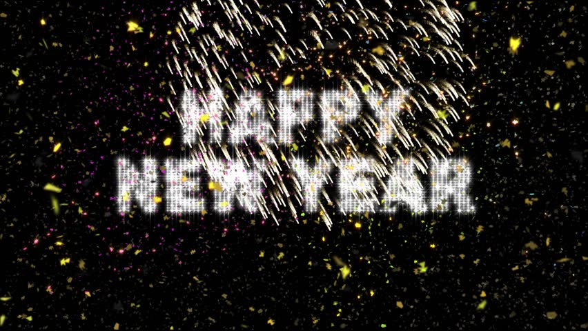 20 Second New Year's Eve Countdown features flashing strobe numerals and text with confetti falling through colorful lights and exploding fireworks.  Length equal approx one minute. | Shutterstock HD Video #3173944