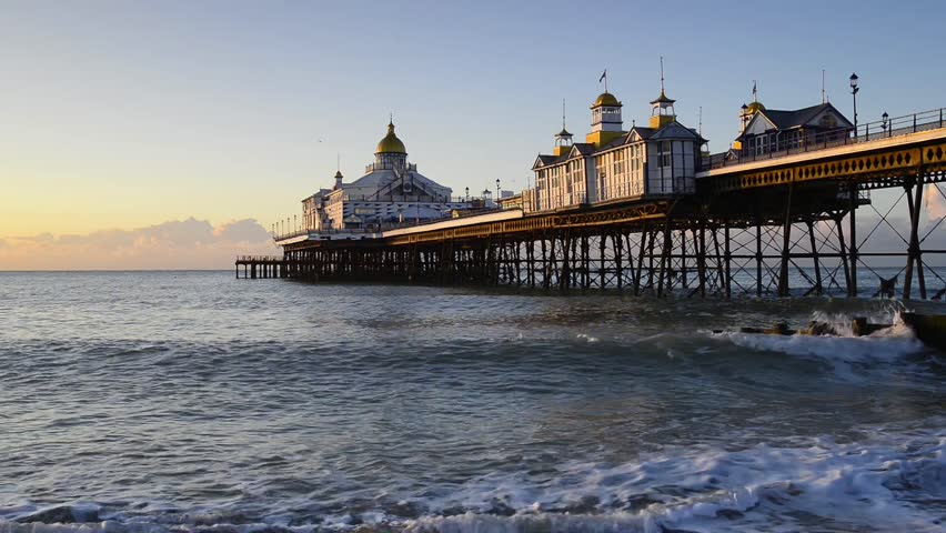 Sunrise at Eastbourne pier on the Sussex coast